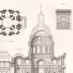 Paris, Church of Les Invalides, Section and Plan