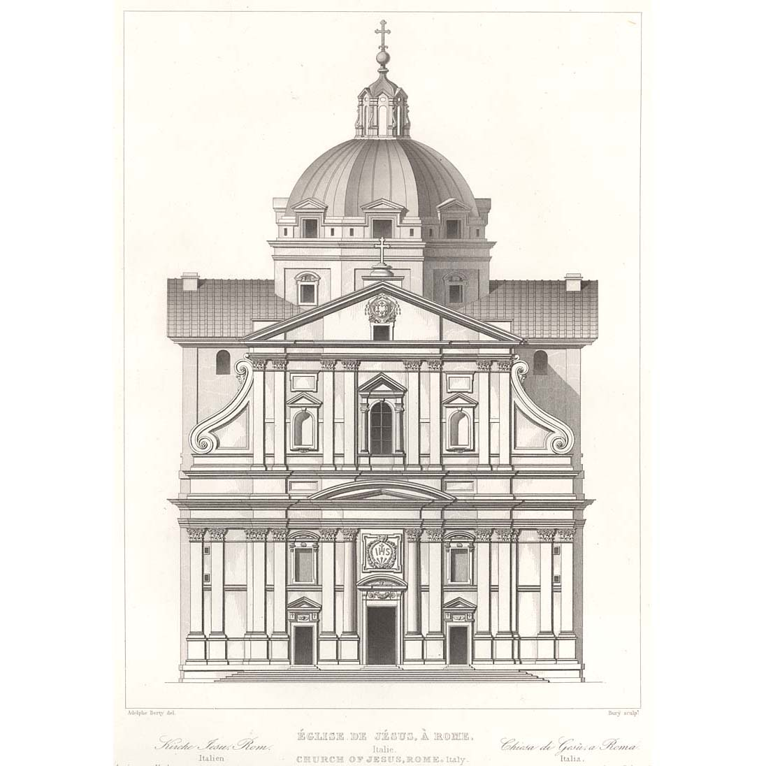 Sample Front Elevation Church : Rome church of jesus front elevation britton images