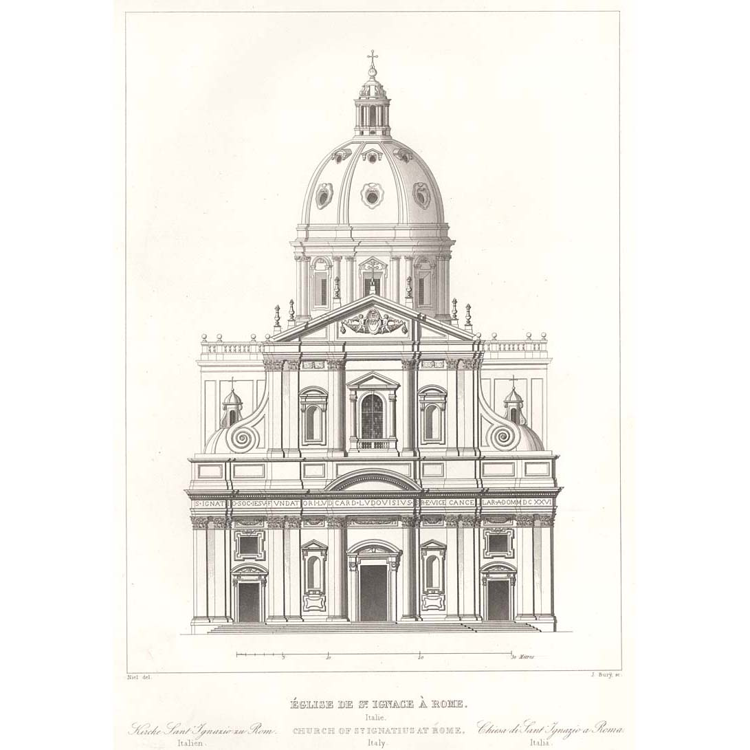 Front Elevation Antiques : Rome church of st ignatius front elevation britton images