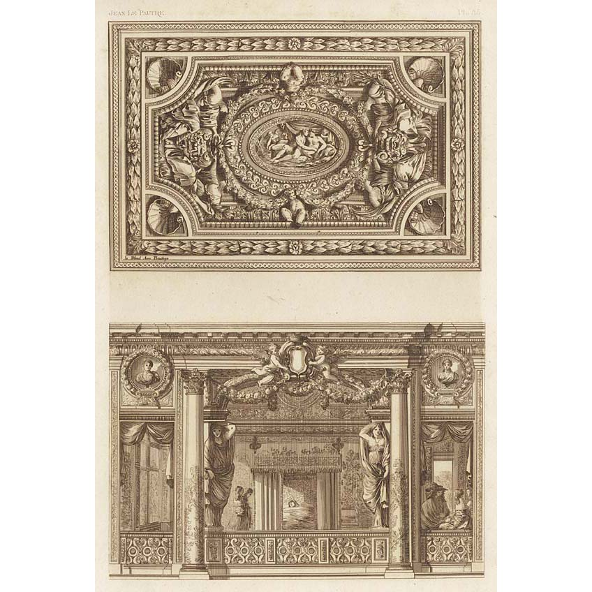 French 17th century hall and ceiling design britton images for French ceiling design