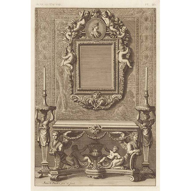 French 17th century wall mirror console table britton for 17th century mirrors
