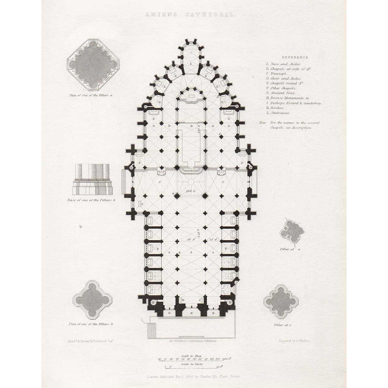 plan of amiens cathedral. Black Bedroom Furniture Sets. Home Design Ideas