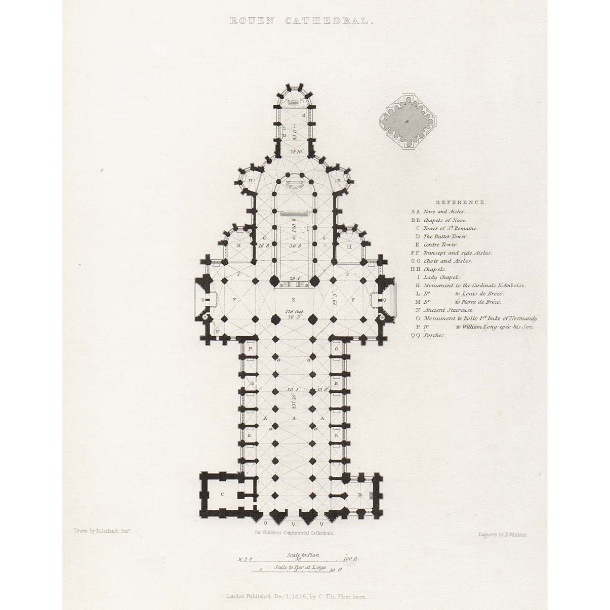 france rouen cathedral plan britton images. Black Bedroom Furniture Sets. Home Design Ideas
