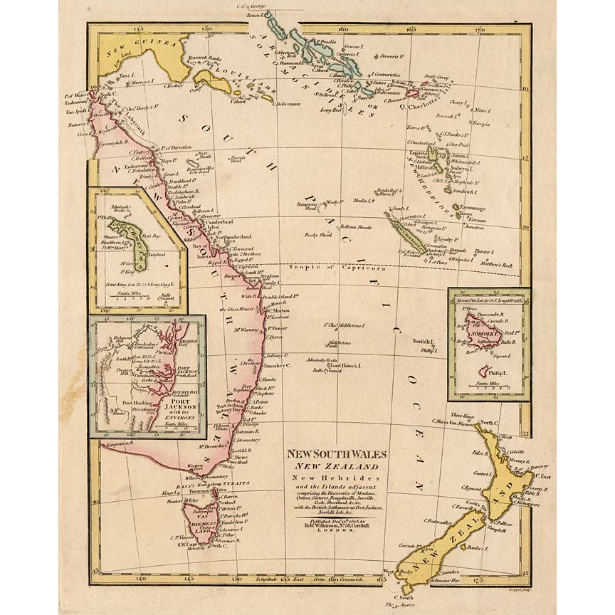 map of new south wales and new zealand 1808