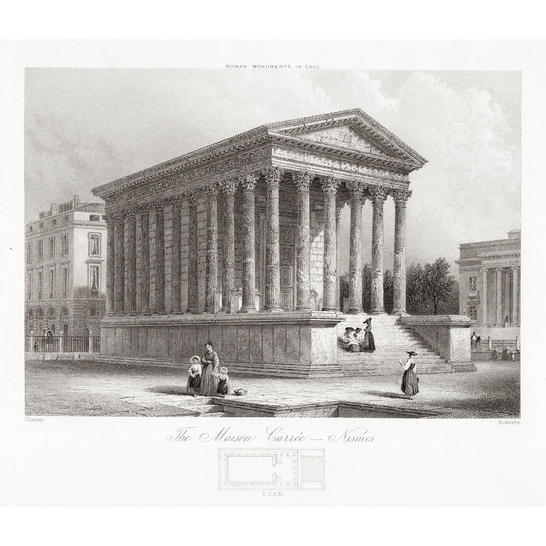France Maison Carree And Plan Nimes Britton Images