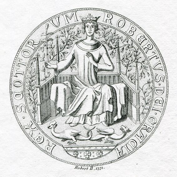 King Robert II of Scotland (1316-1390) Seal - BRITTON-IMAGES